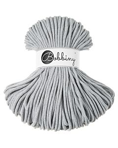 Bobbiny Punottu lanka Light Grey Premium 5mm