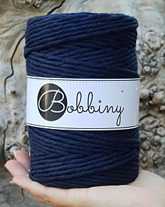 Bobbiny Makrame Lanka Navy Blue 5mm