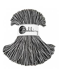 Bobbiny Punottu lanka Black And White Junior 3mm
