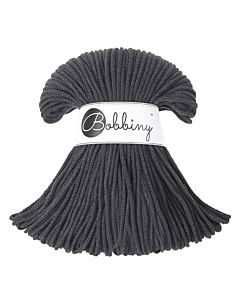 Bobbiny Punottu lanka Charcoal Junior 3mm