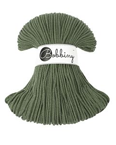 Bobbiny Punottu lanka Olive Green Junior 3mm