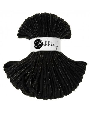 Bobbiny Punottu lanka Golden Black Premium 5mm