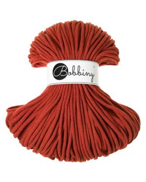Bobbiny Punottu lanka Burnt Orange Premium 5mm