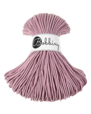Bobbiny Punottu lanka Dusty Pink Junior 3mm