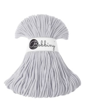 Bobbiny Punottu lanka Light Grey Junior 3mm