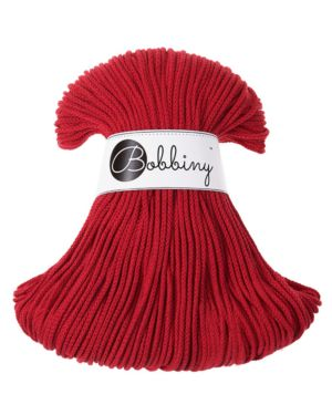 Bobbiny Punottu lanka Red Junior 3mm