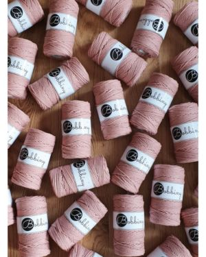 3Ply Makrame Lanka Blush 3mm 100m Image