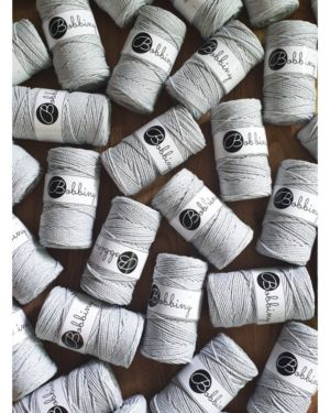 3Ply Makrame Lanka Light Grey 3mm 100m Image