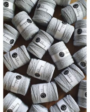 3Ply Makrame Lanka Light Grey 5mm 100m Image