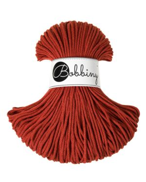 Bobbiny Punottu lanka Burnt Orange Junior 3mm