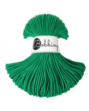 Bobbiny Punottu lanka Festive Green - Winter Edition Junior 3mm