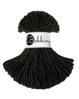 Bobbiny Punottu lanka Golden Black Junior 3mm