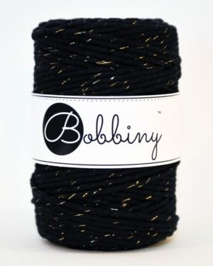 Bobbiny Makrame Lanka Golden Black 5mm