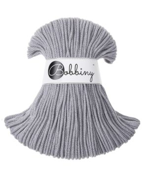 Bobbiny Punottu lanka Grey Junior 3mm