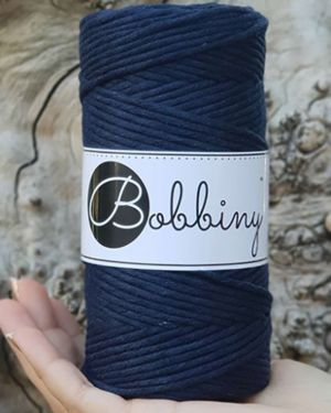 Bobbiny Makrame Lanka Navy Blue 3mm