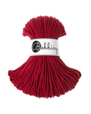 Bobbiny Punottu lanka Wine Red - Fall/Winter Edition Junior 3mm 100m